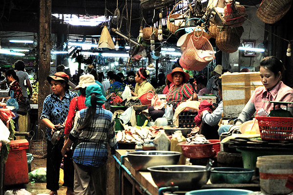 Old Market, the central market in Siem Reap
